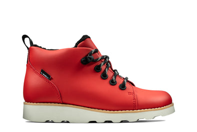 Clarks Crown Tor K Red Leather