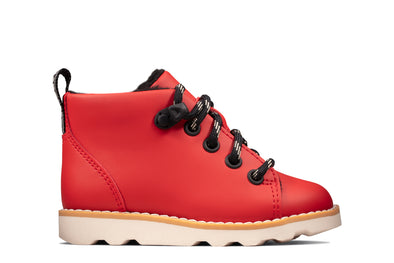 Clarks Crown Tor T Red Leather