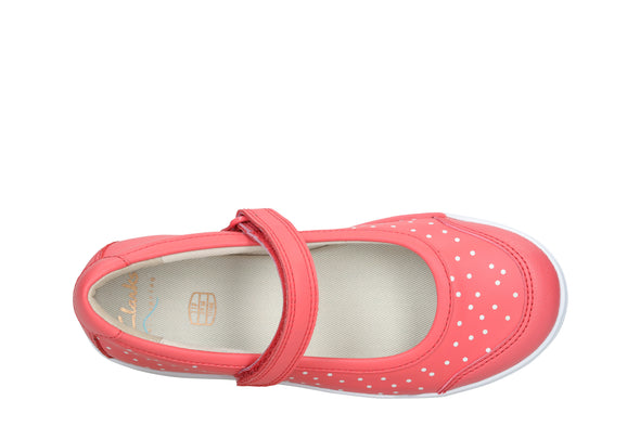 Clarks Emery Halo K Coral Leather