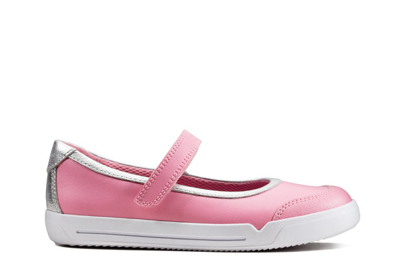 Clarks Emery Halo K Pink Leather