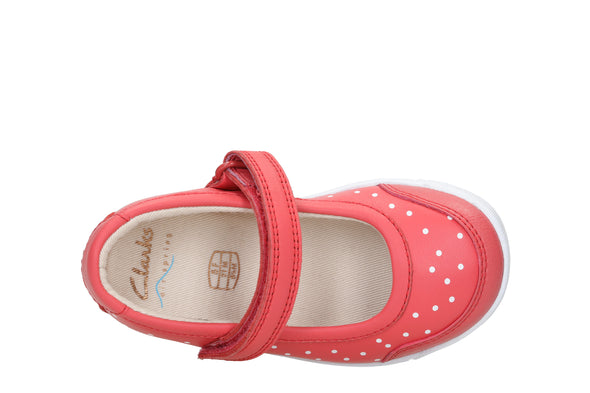 Clarks Emery Halo T Coral Leather