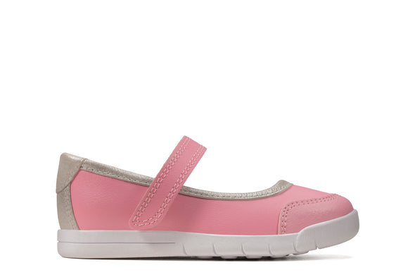 Clarks Emery Halo T Pink Leather