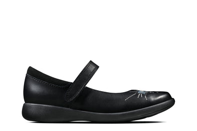 Clarks Etch Spark K Black Leather