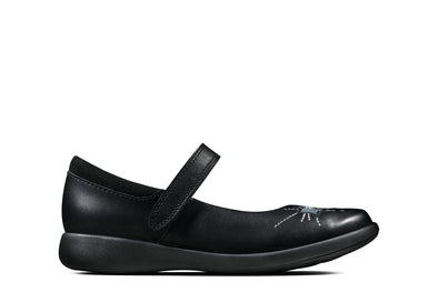 Clarks Etch Spark T Black Leather