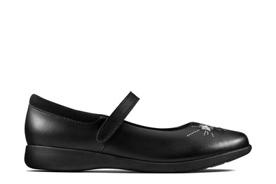 Clarks Etch Spark Y Black Leather