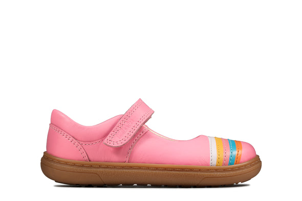Clarks Flash Rain T Bright Pink Lea