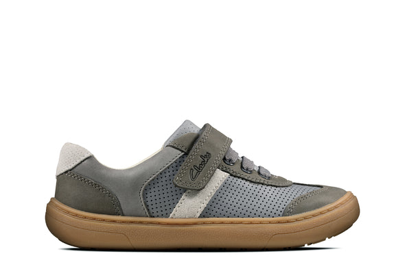 Clarks Flash Step K Grey Combi Lea