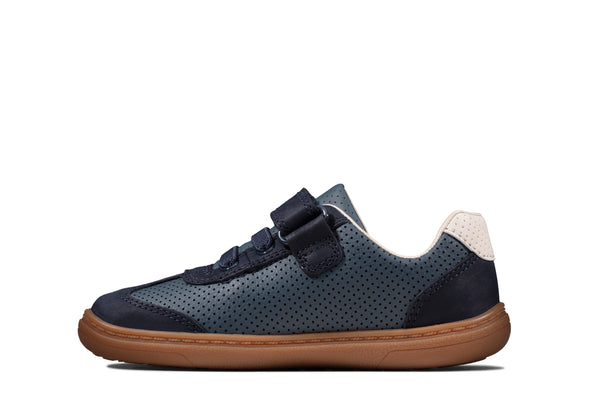 Clarks Flash Step T Navy Combi Lea