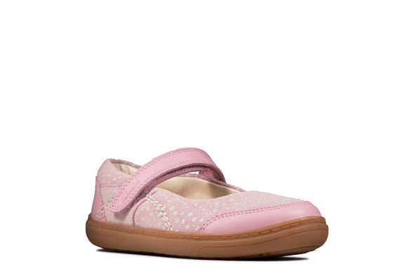 Clarks Flash Stripe T Dusty Pink Lea