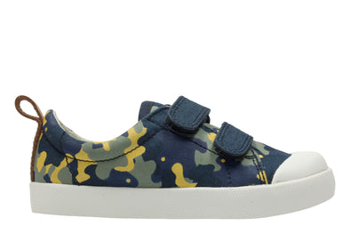Clarks Halcy High Navy Camo