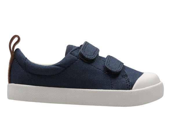 Clarks Halcy High Navy Canvas