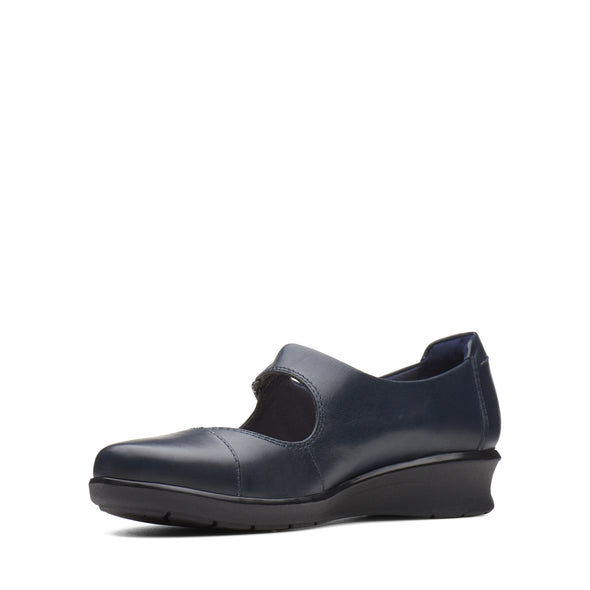 Clarks Hope Henley Navy Leather
