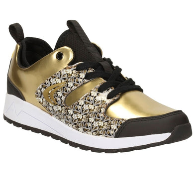 Clarks Adven Jump Jnr Gold Metallic