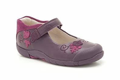 Clarks Binnie Bug Inf Purple Leather