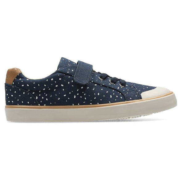 Clarks Comic Max Jnr Navy Canvas