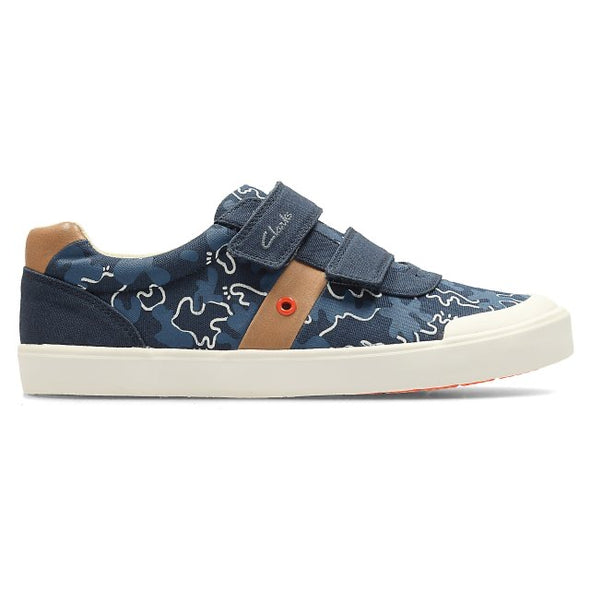 Clarks Comic Zone Jnr Navy Canvas