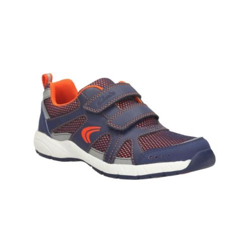 Clarks Cross Zoom Jnr Navy Combi