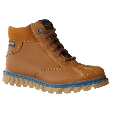 Clarks Dan Hi GTX Jnr Tan Leather