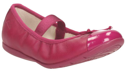 Clarks Dance Puff Inf Berry Leather