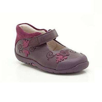 Clarks Softly Mya Fst Purple Leather