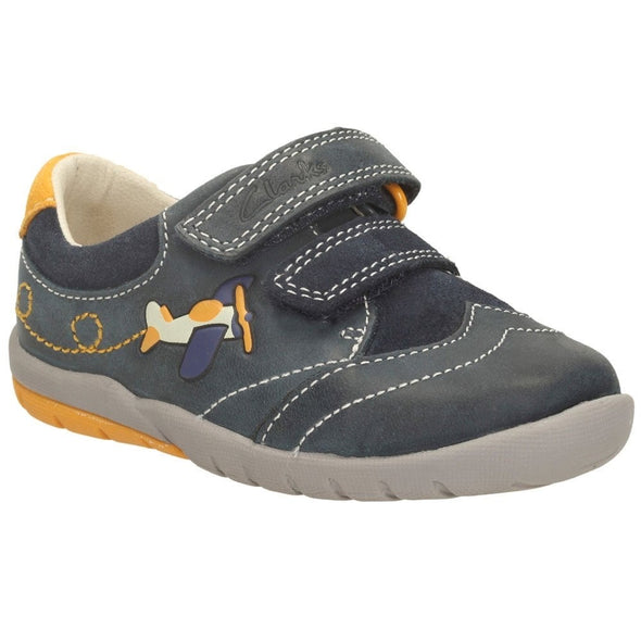 Clarks SoftlyLiam Fst Navy Leather