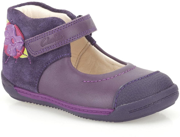 Clarks SoftlyRose Fst Purple Leather