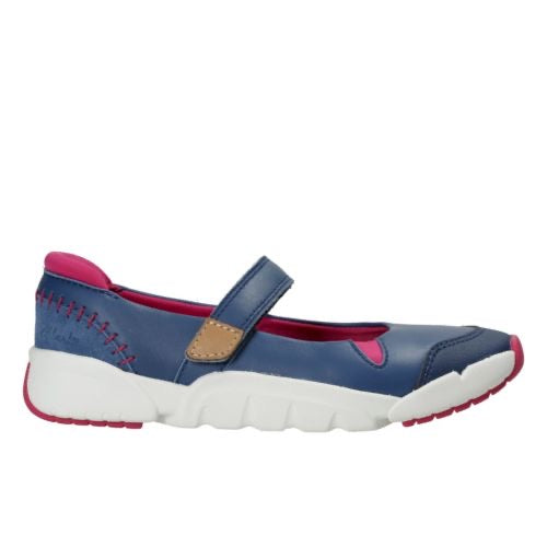 Clarks Tri Pace Inf Blue Leather
