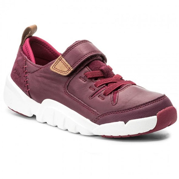 Clarks Tri Wish Jnr Plum Leather