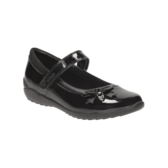 Clarks Ting Fever Inf Black Pat