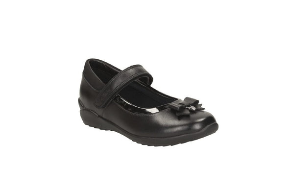 Clarks Ting Fever Inf Black Leather