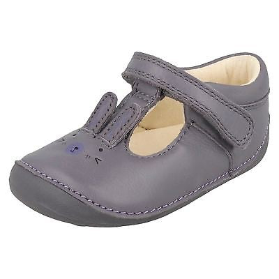 Clarks Little Glo Anthracite Lea