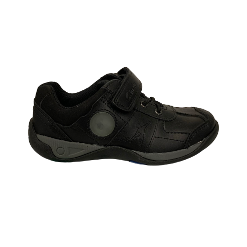 Clarks Goal Class Inf Black Leather