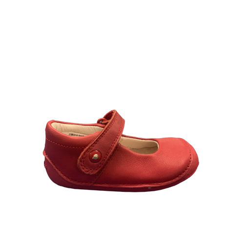 Clarks Little Boo Red Leather