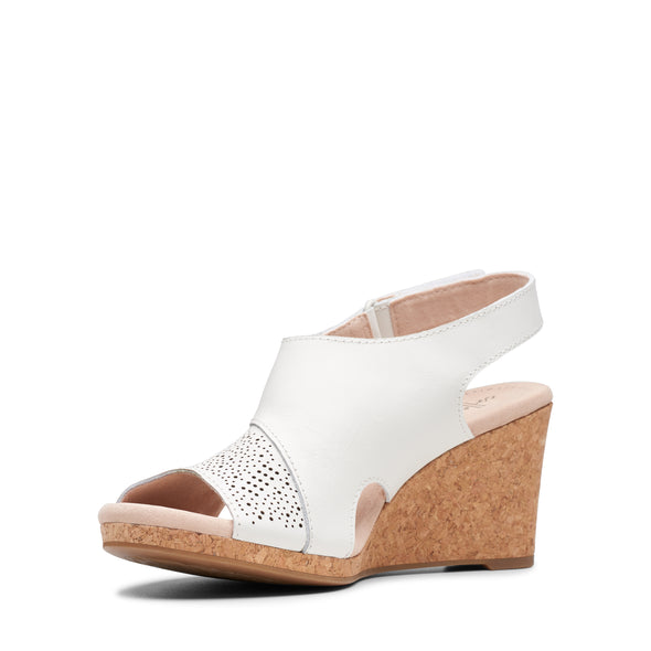 Clarks Lafley Joy White Leather