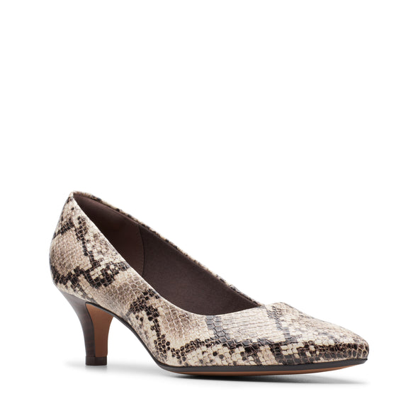 Clarks Linvale Jerica Taupe Snake