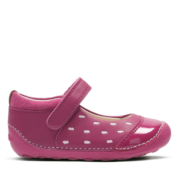 Clarks Little Lou Pink Leather