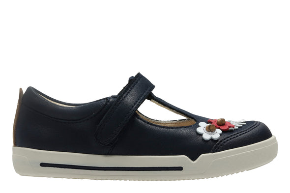 Clarks Mini Blossom Blue Leather