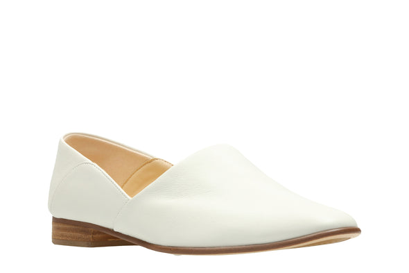 Clarks Pure Tone White Leather