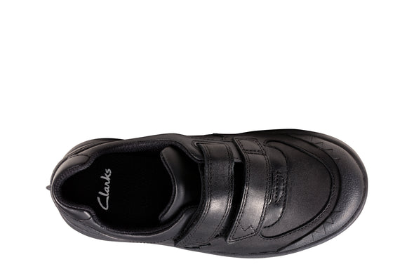 Clarks Rex Pace K Black Leather