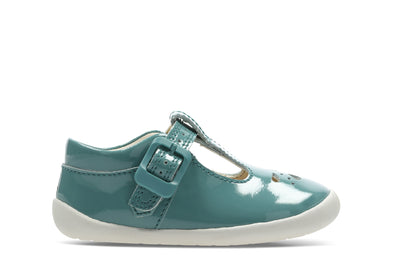 Clarks Roamer Star T Teal Leather