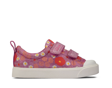 Clarks City Bright T Pink Floral