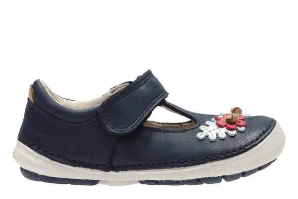 Clarks Softly Blossom Blue Leather