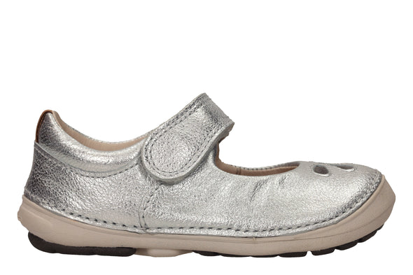 Clarks Softly Eden Silver Leather