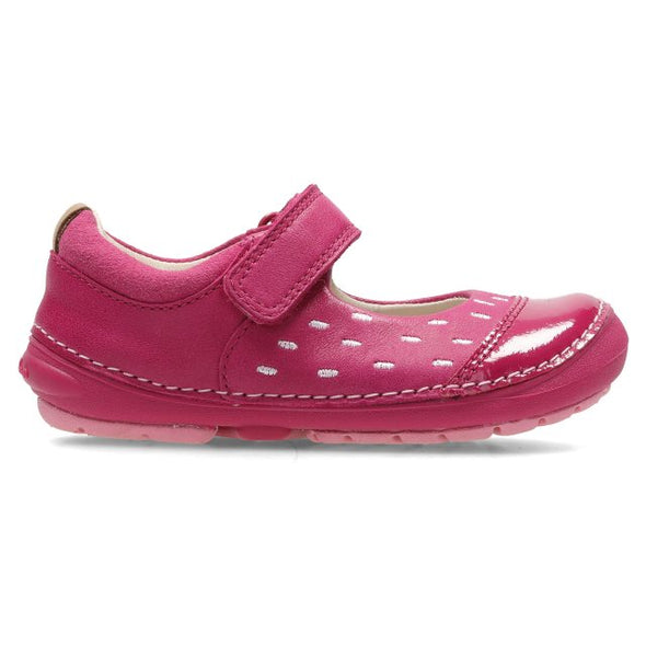 Clarks Softly Lou Fst Pink Leather