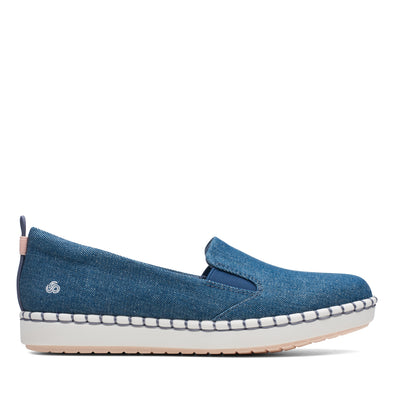 Clarks Step Glow Slip Denim