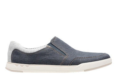 Clarks Step Isle Slip Navy Canvas