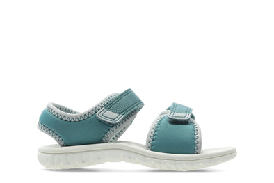 Clarks Surfing Tide T Teal Synthetic