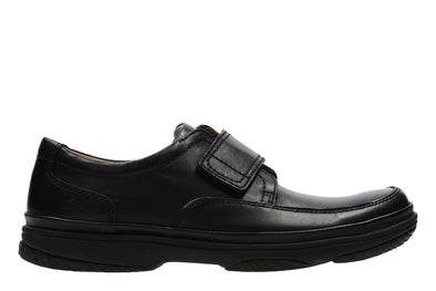 Clarks Swift Turn Black Leather