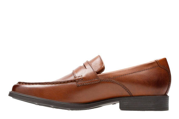 Clarks Tilden Way Tan Leather