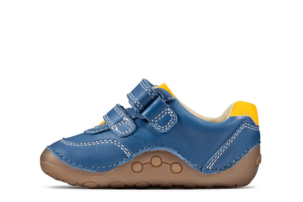 Clarks Tiny Dusk T Blue Leather